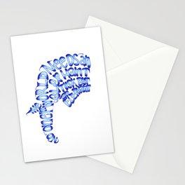 No One Needs an Elephant Tusk Stationery Cards
