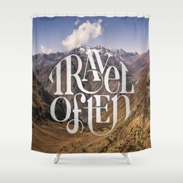 Travel to the Mountains Shower Curtain