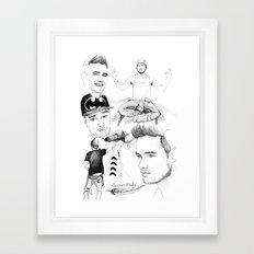 Liam Sketchbook Framed Art Print