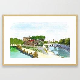 Isola Tiberina Framed Art Print