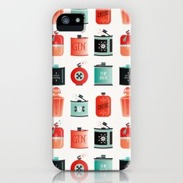 Flask Collection – Red & Turquoise Palette iPhone Case