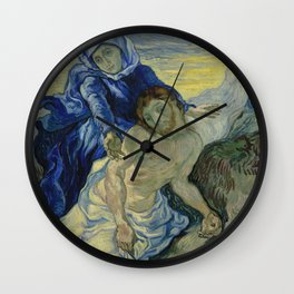 Pietà (after Delacroix) Wall Clock