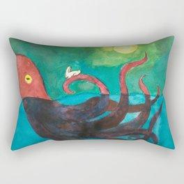 Octopus and Rabbit Rectangular Pillow