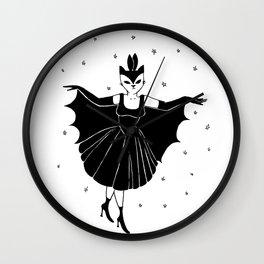 Bat girl is not bad Wall Clock