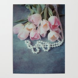 Tulips and Pearls Poster
