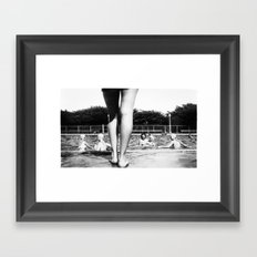 A Day At The Pool Framed Art Print