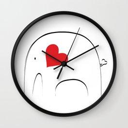 Japanese Elephant 2 Wall Clock