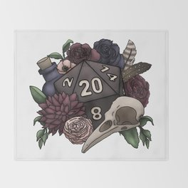 Necromancer D20 Tabletop RPG Gaming Dice Throw Blanket