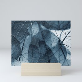 blue leaf III Mini Art Print