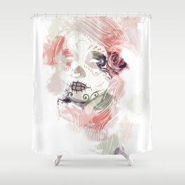 Fume Skull Shower Curtain