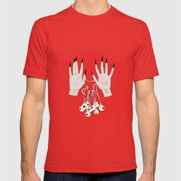 Creepy Hands Holding Eyes T-shirt