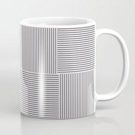 Rayures stripes carreaux gris grey Coffee Mug