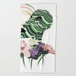 Sun and flowers Beach Towel