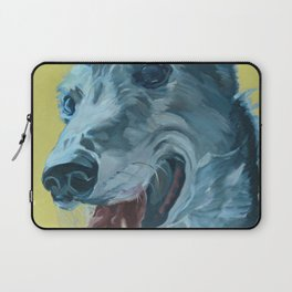 Dilly the Greyhound Portrait Laptop Sleeve