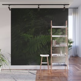 ferns in the darkness Wall Mural