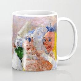Masks Mocking Death portrait painting by James Ensor Coffee Mug