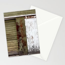 Green and White Door Stationery Cards
