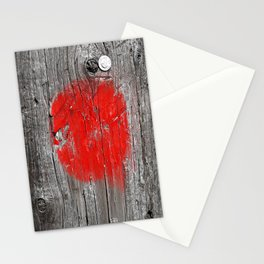 Red Marks the Spot  Stationery Cards