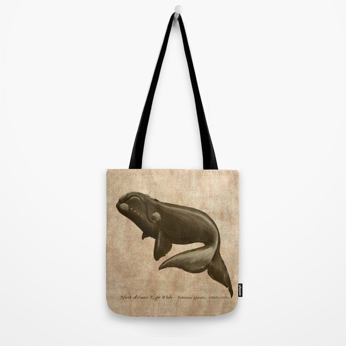 North Atlantic Right Whale, Digital Illustration by Amber Marine (Copyright 2015) Tote Bag
