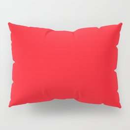 Bright Italian Racing Car Red Color Pillow Sham