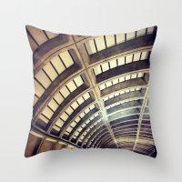 washington dc Throw Pillows featuring Petworth Metro (Washington, DC) by Carsick T-Rex