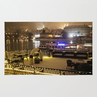 prague Area & Throw Rugs featuring Prague 4 by Veronika