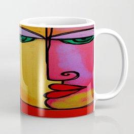 Colorful Abstract Face Digital Painting Coffee Mug