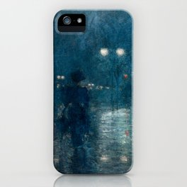 Fifth Avenue Nocturne by Childe Hassam, 1895 iPhone Case