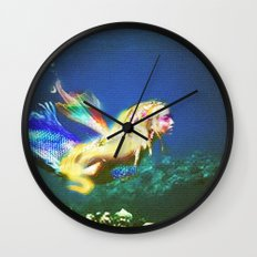 Mermaid Valley part I Wall Clock