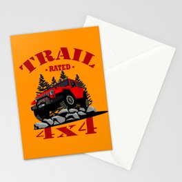 Trail Rated (Red) Stationery Cards