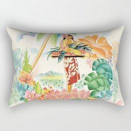 Vintage Hawaiian Travel Poster Rectangular Pillow