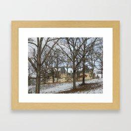 Snow on the Biltmore Framed Art Print