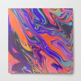 Fluid Colors Metal Print