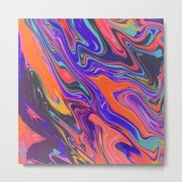 Fluid Colors Metal Print