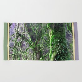RAIN FOREST MAPLES IN SPRING 2 Beach Towel