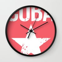 cuba Wall Clocks featuring CUBA by Department M