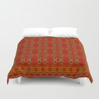ashton irwin Duvet Covers featuring Influenza C Tapestry by Alhan Irwin by Microbioart