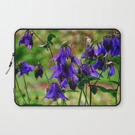 Purple Petals in the Rain Laptop Sleeve