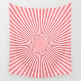 Pale Pink Sunbeams Wall Tapestry