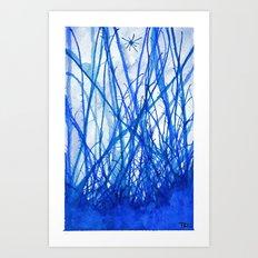 Blue Holiday Art Print
