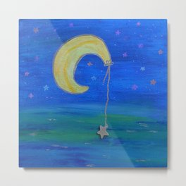 The Moon And Its Star Metal Print