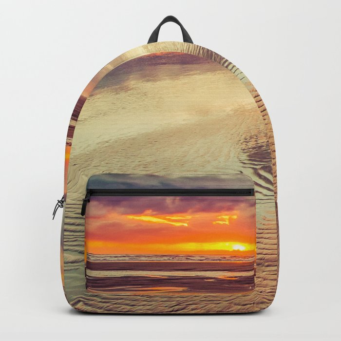 Live and Love beach text Backpack