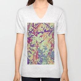 Colorful Leaves  Unisex V-Neck