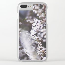 The Smallest White Flowers 01 Clear iPhone Case