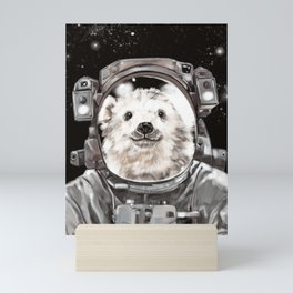Astronaut Polar Bear Selfie Mini Art Print