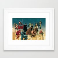 league Framed Art Prints featuring Justice League by David M. Buisán