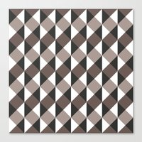 gray pattern Canvas Prints featuring Pattern Gray by Sonia Marazia