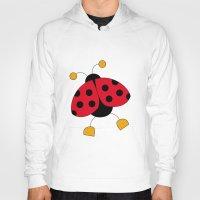 ladybug Hoodies featuring Ladybug by Daniela Alvisi