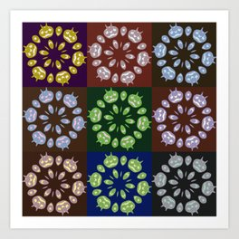 Carved Pumpin Kaleidoscope Pattern Art Print