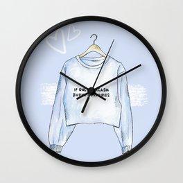 Sarcasm sweater Wall Clock